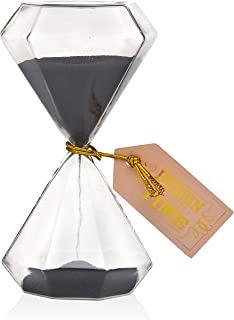 Philip Whitney Diamond Shape Sand Timer 5 Minute Hourglass for Home Desk Office Décor
