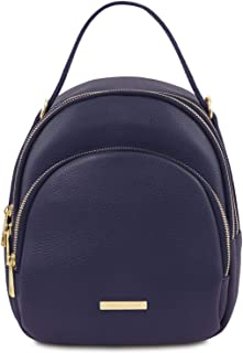 Tuscany Leather TLBag Leather Backpack for Women - TL141743 (Dark Blue)