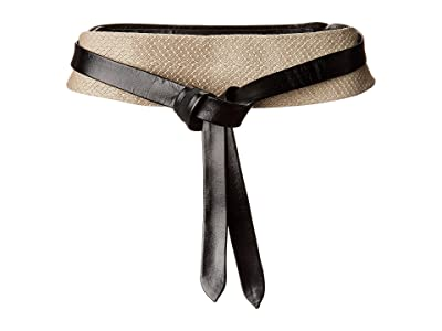 ADA Collection Obi Classic Wrap Belt (Taupe Croco Combo) Women