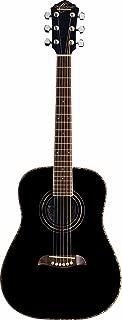 Oscar Schmidt 6 String OGHS 1/2 Size Dreadnought Left Hand Acoustic Guitar. Black (OGHSBLH-A)