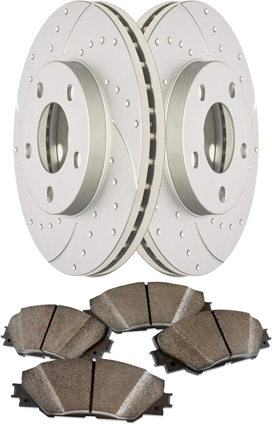 Front Low Max 68% OFF Dust Ceramic Ranking TOP5 Pads and Anti Rust Coated Geomet Premium