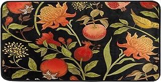 susiyo Kitchen Mat Exotic Flowers Birds Fruits Kitchen Rug Mat Anti-Fatigue Comfort Floor Mat Non Slip Oil Stain Resistant...