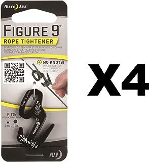 Nite Ize Figure 9 Rope Tightener Small Black Aluminum Tie Down Tool (4-Pack)