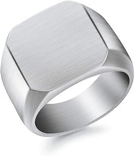 خواتم أزياء BUREI للرجال، خاتم زفاف ذهبي من التنجستن غير اللامع بلمسة نهائية مصقولة حافة الراحة