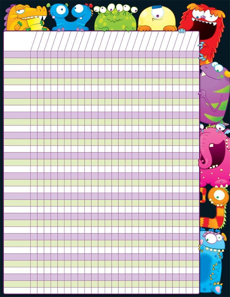 Tucson Mall Carson Dellosa Monsters 114082 Super popular specialty store Chart