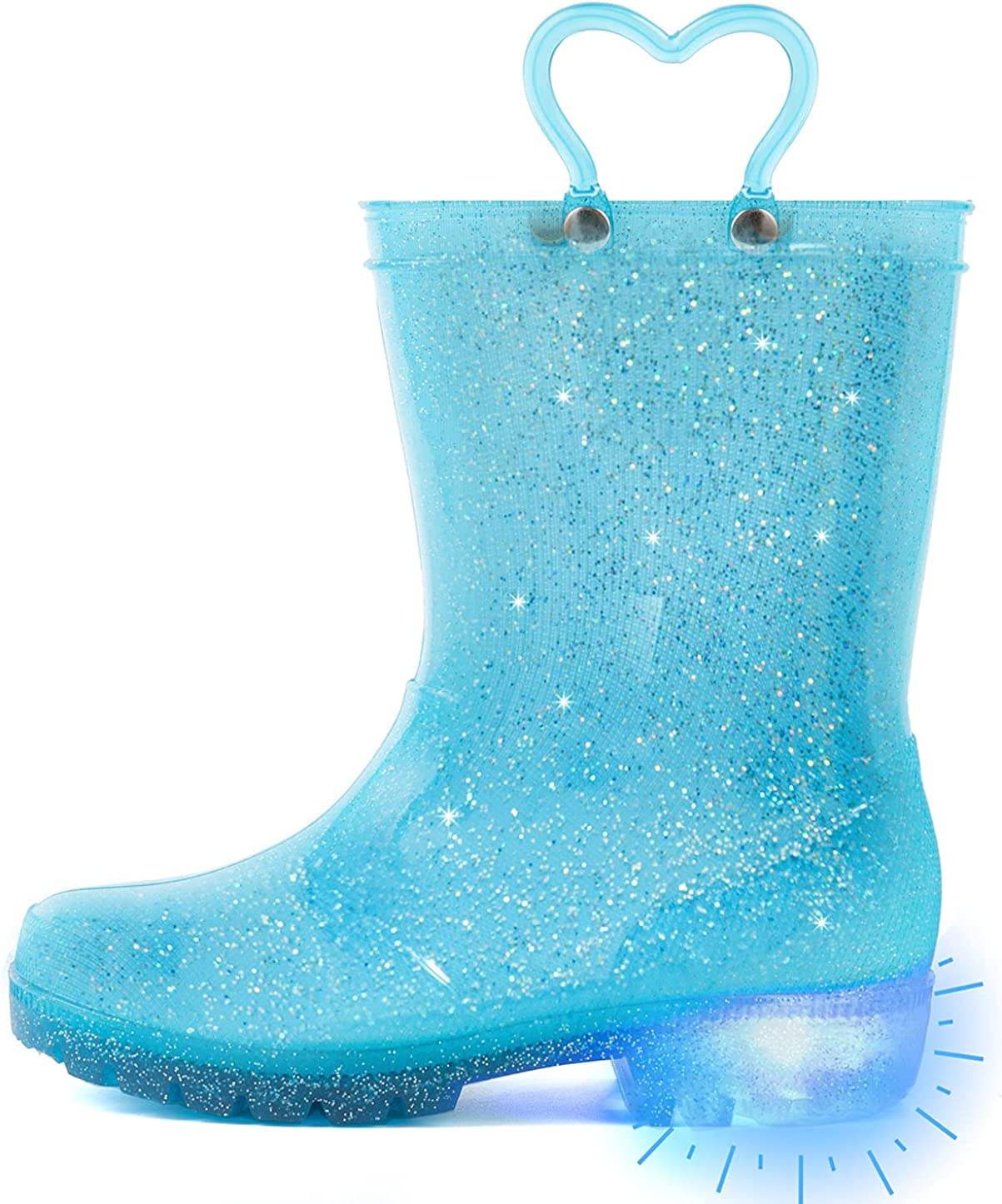Outee Toddler Kids Adorable Lightwight Waterproof Rain Boots Lig