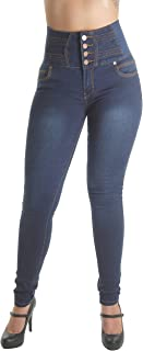 Plus/Junior Size Colombian Design Butt Lifting High Waist Skinny Jeans