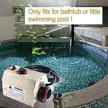 48mm FlowerW Warmwasserbereiter Thermostat 3KW 220 V Elektrische Thermostat f/ür Schwimmbad SPA Thermostat Automatisiert