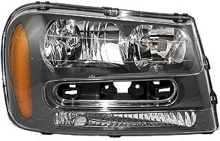 Passengers Headlight Headlamp Assembly Replacement for 02-09 Chevrolet Trailblazer & 02-06 EXT w/Full Width Grille Bar 25970914 AutoAndArt
