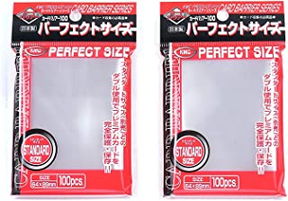 KMC 100 Pochettes Card Barrier Perfect Size Soft Sleeves  2 Pack Value Set !