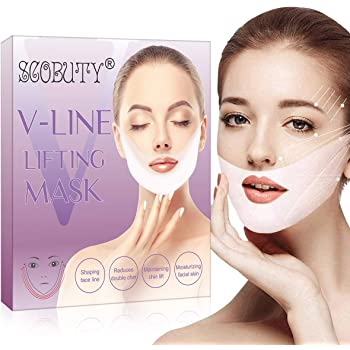 V Mask,Vline Mask,V Shaped Slimming Mask,V Line lifting Mask,V Mask Double Chin Reducer,V-Shaped Slimming Tightening Mask 5 PCS