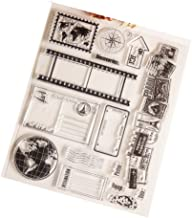 Mentin Globe–Sello de Silicona Transparente para el álbum de DIY Scrapbooking Photo Card Decor