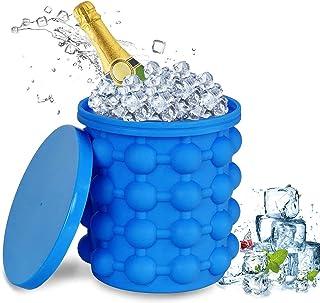Bac à Glaçons, Seau a Glacon, Ice Cube Maker, Ice Cube Magique Glaçon Silicone Seau a Champagne Portable Seau à Glace en S...