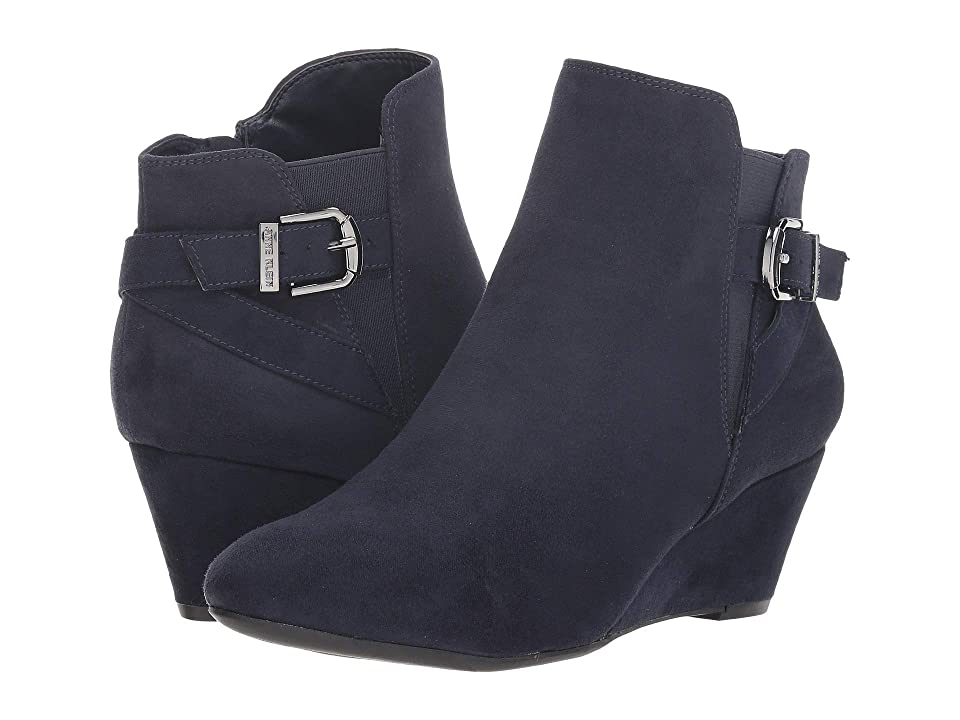 Anne Klein Admina Wedge Bootie (Navy) Women