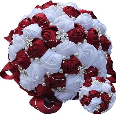 Amazon.com: yeefant Otoño Hortensia ramo de flores flores ...