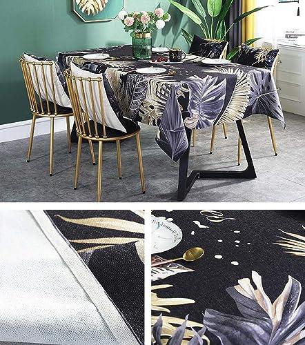 HQQ Nordic Tischdecke Stoff Baumwolle Nachahmung Marmormuster Couchtisch Matte Wasserdicht Schwarzicht LuxusverGoldung (Farbe   B, Größe   1.4m1.8m)