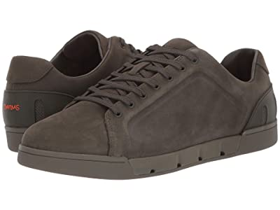 SWIMS Breeze Tennis Leather (Olive Night) Men