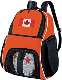 Broad Bay Canada Flag Soccer Ball Backpack or Volleyball Bag Orange
