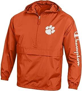 NCAA Mens NCAA Men's Half Zip Packable Hooded Wind Jacket
