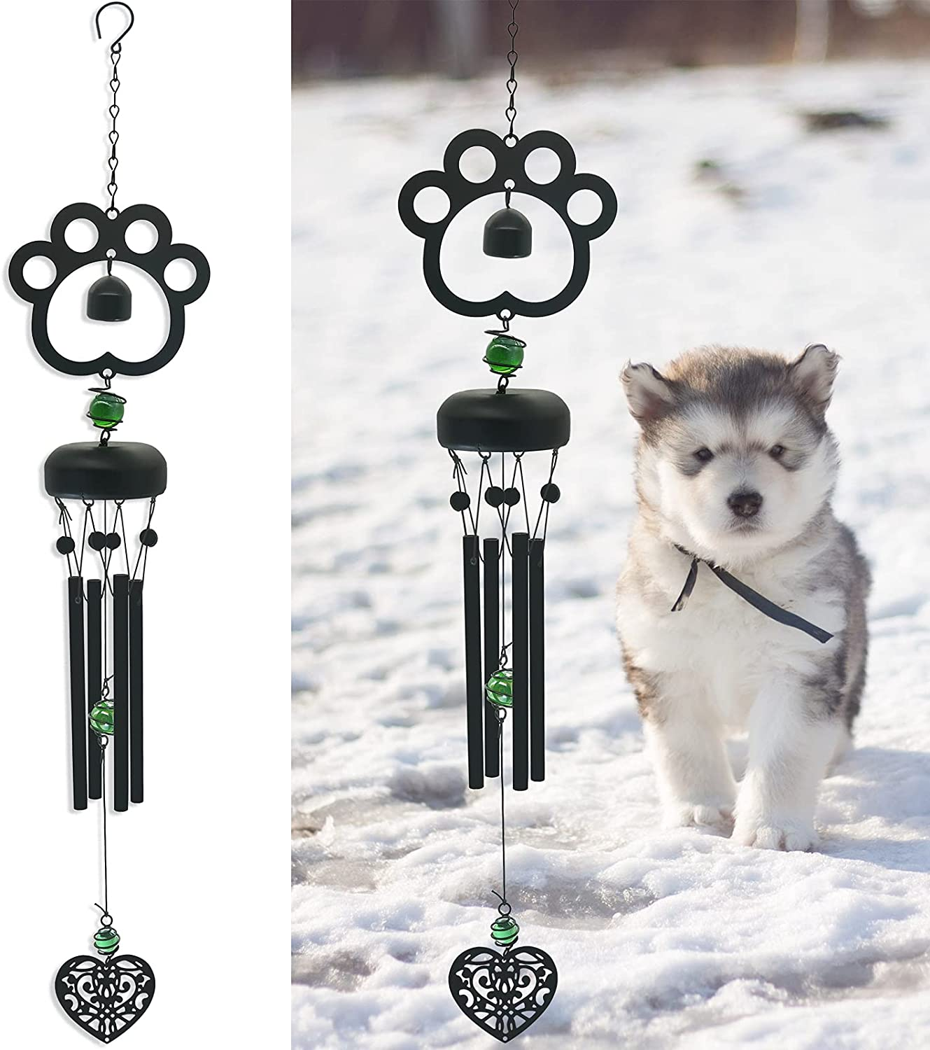 SUNGIRLS Pet New sales Memorial Max 60% OFF Wind Chime Chimes Sympathy Outdoo for