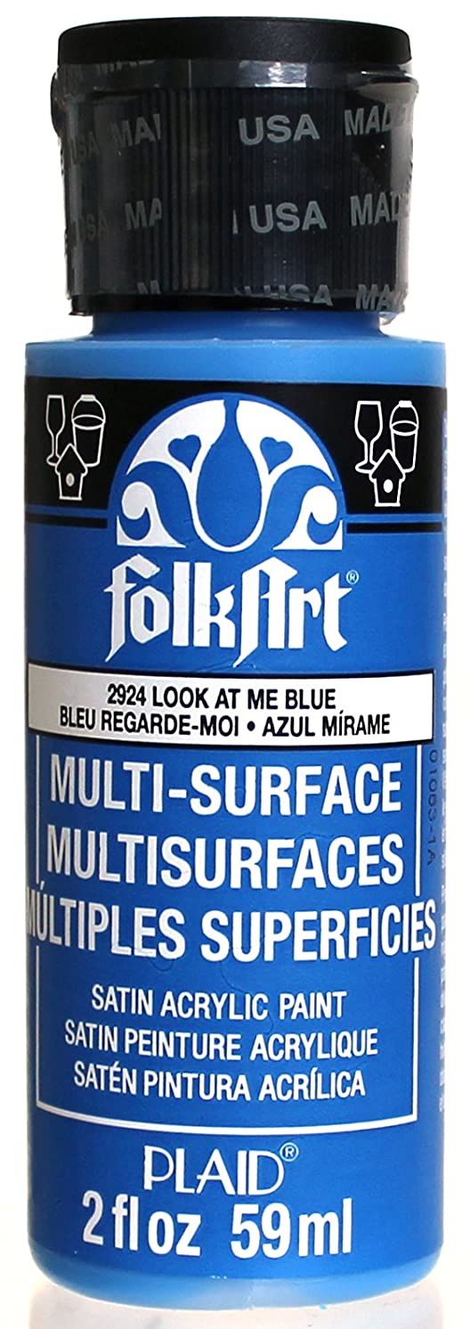 FolkArt Multi-Surface Paint in Assorted Colors (2 oz), 2924, Look At Me Blue