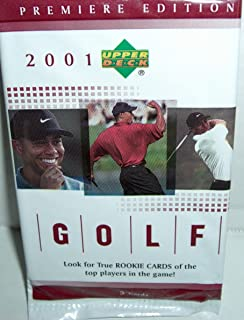 2001 Upper Deck Golf Cards Unopened Packs -5 packs per order- Tiger Woods Rookie Cards, Shirt Cards, and Insert Cards Possible