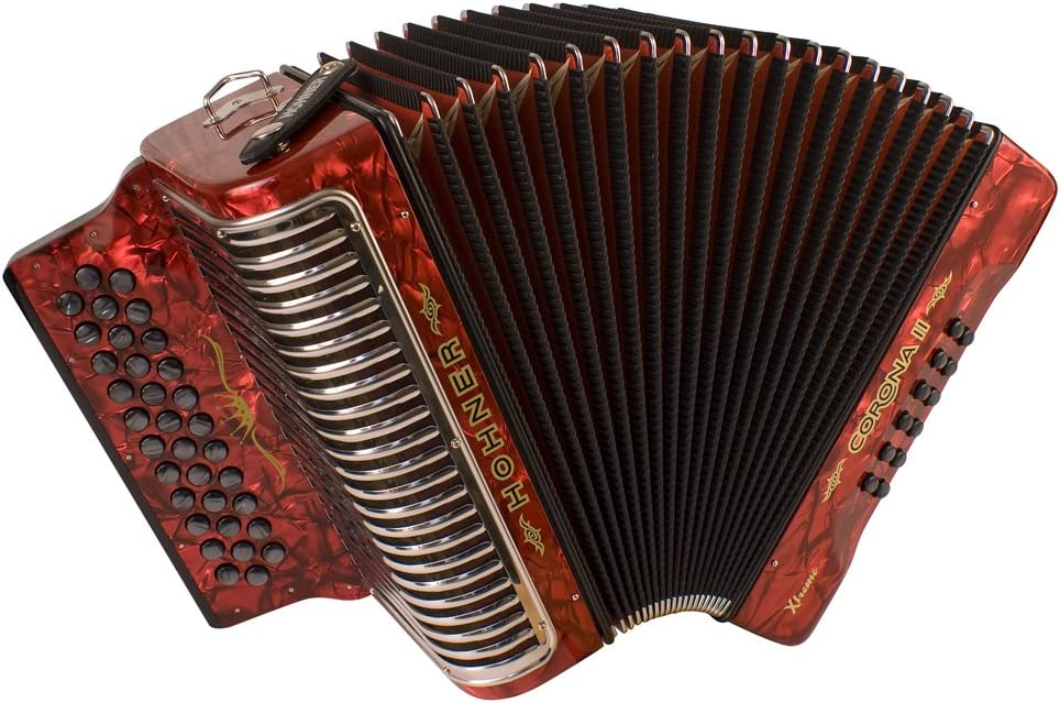 Hohner Corona Detroit Mall Xtreme II Accordion Red 34 Pearl EAD Button Ranking TOP20