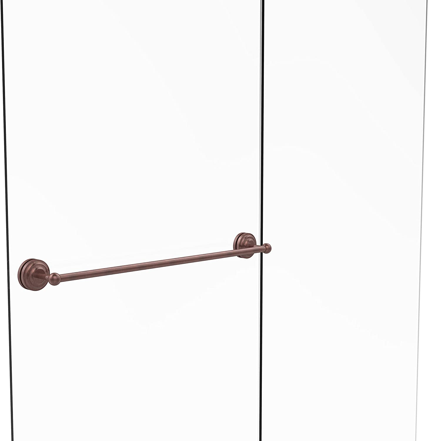 Allied Brass Que New Collection 30 Inch Shower Door Towel Bar, QN-41-SM-30-CA