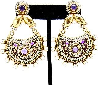 Bollywood Designer Exclusive One Gram Gold Earrings For Women/AZERP1G