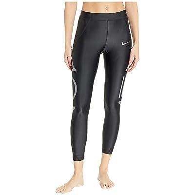 Nike Speed 7/8 Flash Tights (Black/Gunsmoke) Women