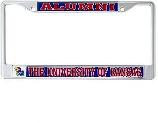 Desert Cactus University of Kansas Alumni Metal License Plate Frame for Front Back of Car Officially Licensed UK Jayhawks (Alumni)