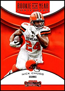 2018 Panini Contenders Rookie of the Year Contenders  RYA-NC Nick Chubb  Cleveland Browns 69961e6ef