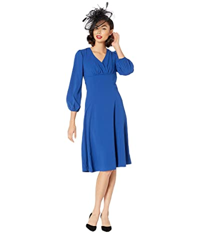 Unique Vintage Micheline Pitt for Unique Vintage 1950s Style Royal Pris Swing Dress (Blue) Women