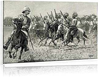 Actorstion British Colonial Troops Canvas Art Wall Decor,156675 for Modern Home Decor Stretched and Framed Ready to Hang,16