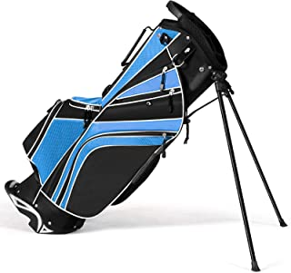 Tangkula Golf Stand Bag for Men & Women, Golf Carry Bag with 6 Way Divider Carry Organizer Pockets Storage