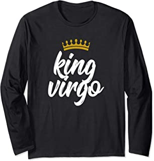 King Virgo Star Sign Birthday August 23 to September 22 Long Sleeve T-Shirt