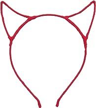 Bonnie Z. Leonardo Devil Horns Headband Chiffon Red