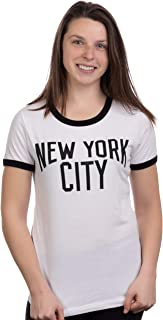 Retro New York City | Iconic NYC Lennon Ringer Vintage Women Girly T-Shirt Top