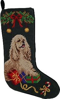 Cocker Spaniel Dog Needlepoint Christmas Stocking