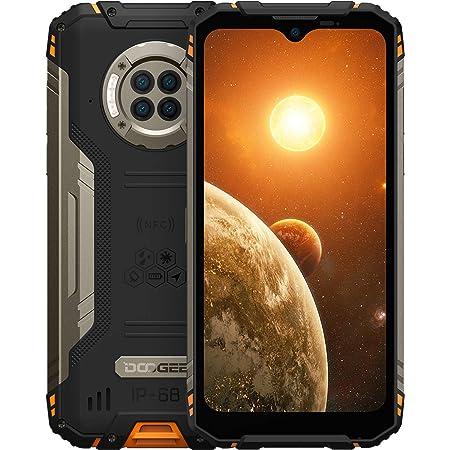 DOOGEE S96 Pro 8GB RAM + 128GB ROM, Smartphone 4G, Cámara Cuádruple 48MP, Visión Nocturna + Frontal 16MP, 6350mAh Movil Android 10, 6.22 HD+, NFC, GPS, IP68 IP69K Resistente al Agua, Golpes, Naranja