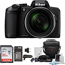 Nikon COOLPIX B600 Digital Camera (Black) with 32GB Card + Case + Battery and Accessory Bundle