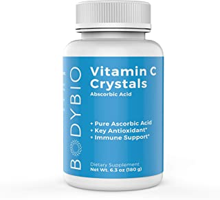 BodyBio Vitamin C, Ascorbic Acid sourced from Scotland, Immune Support, Antioxidant Supplement 180g