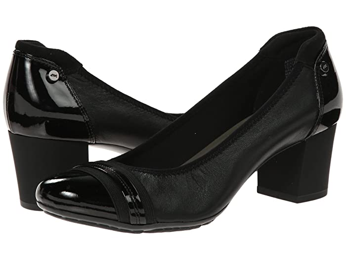 Anne Klein  Sport Guardian (Black Leather) High Heels