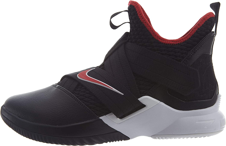 Nike Men's Zoom Lebron Soldier XII Basketball schuhe (9.5, schwarz rot Weiß)