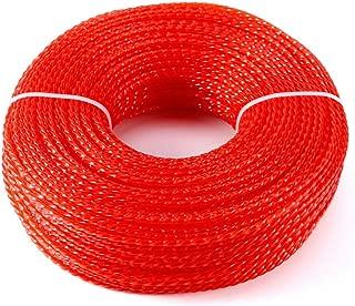 Banworayut store Nylon Cord Line 2.4mm x 100m Red Brushcutter Strimmer Trimmer Nylon Cord Line Wire Replace