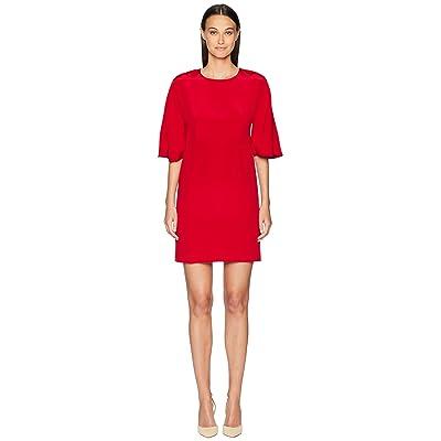 Adam Lippes Silk Crepe Sculpted Mini Dress (Red) Women