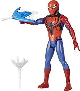 Spider-Man Marvel Titan Hero Series Blast Gear Action Figure Toy with Blaster, 2 Projectiles and 3 Armor Accessories, for Kids Ages 4 and Up