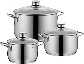 WMF 730036040 Diadem Plus 3Pc Cookware Set, Stainless Steel, 3kg