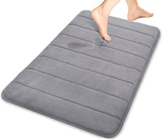 Yimobra Memory Foam Bath Mat Large Size 31.5 by 19.8 InchMaximum AbsorbentSoftComfortableNon-SlipEasier to Dry for Bathroo...