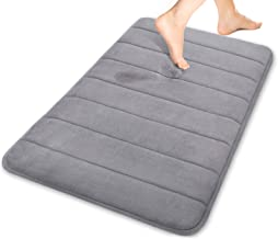 Yimobra Memory Foam Bath Mat Rug, Comfortable, Soft, Super Water Absorption, Machine Wash, Non-Slip, Thick, Easier to Dry ...